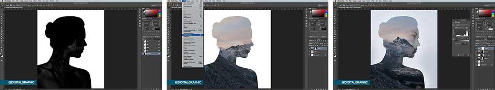 آموزش تلفیق منظره با صورت در فتوشاپ