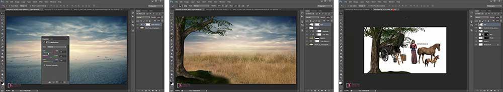 طراحی عکس فتومونتاژ در فتوشاپ