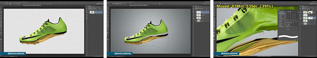 آموزش تلفیق کفش و رنگ پاچیده شده در فتوشاپ