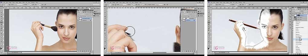 آموزش افکت نقاشی روی صورت در فتوشاپ