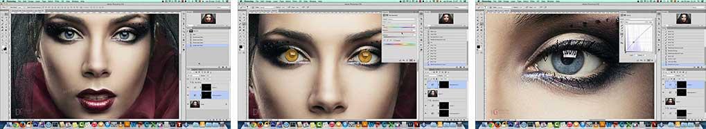 آموزش عوض کردن رنگ چشم در فتوشاپ