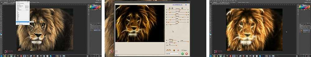 طراحی عکس با فیلتر ها در فتوشاپ