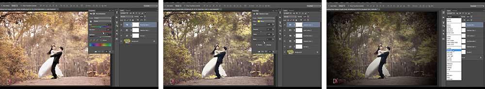 آموزش  رنگبندی عکس عروسی در فتوشاپ