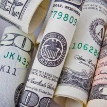 عکس دلار لوله شده
