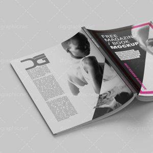 دانلود موکاپ جلد باز شده مجله
