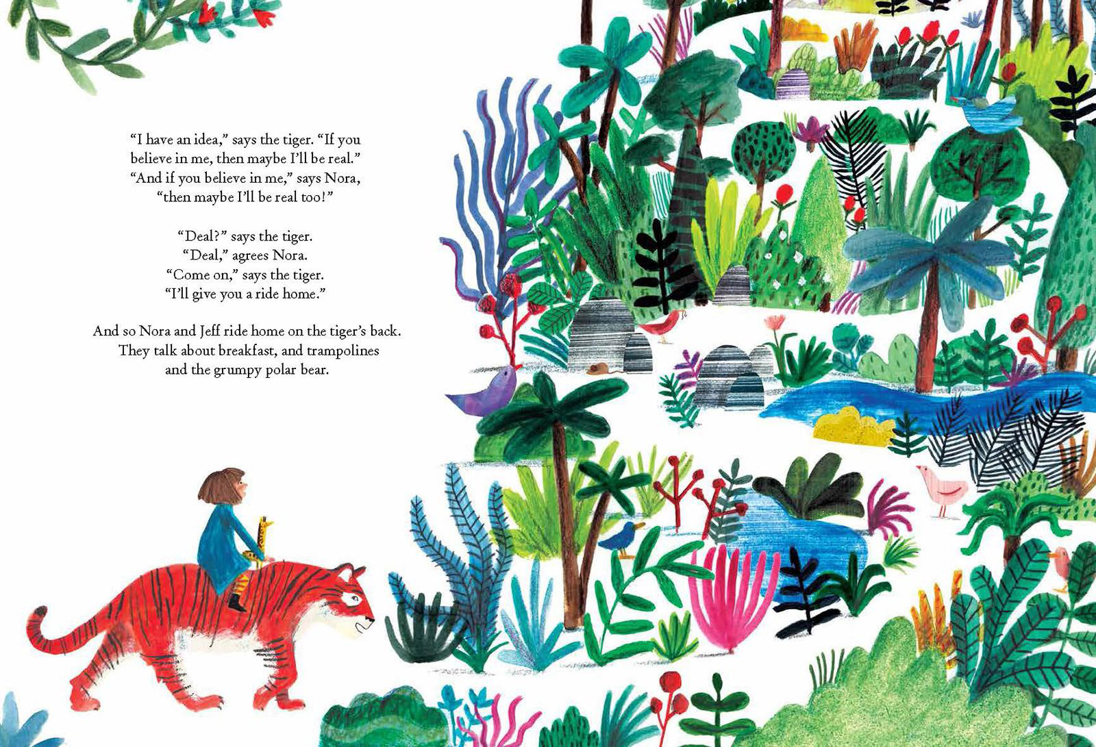 there is a tiger in the garden , LizzyStewart