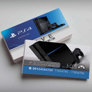 کارت ویزیت فروشگاه Playstation