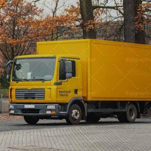 موکاپ مینی کامیون زرد