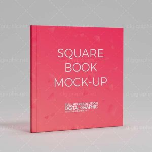 موکاپ جلد کتاب مربع