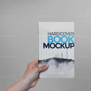 موکاپ کتاب در دست